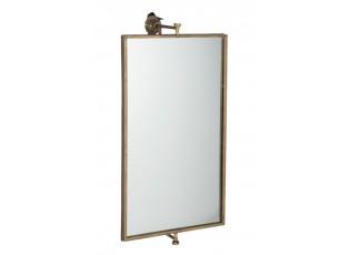 Zlaté nástěnné kovové zrcadlo antik gold -  35*50*70cm