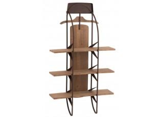 Nástěnná dřevěná polička - 70*21*121 cm