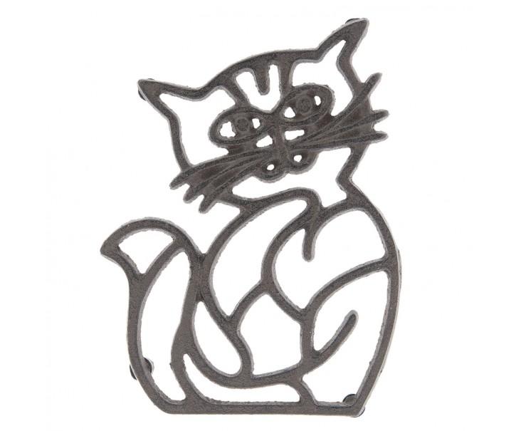 Litinová podložka kočka - 14*19*2 cm