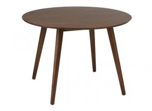 Hnědý jídelní stůl Armrest Vintage- Ø106*75 cm