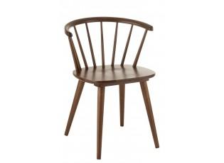 Hnědá jJídelní židle Armrest Vintage- 54*53*75 cm