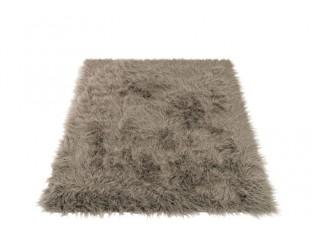 Šedá chlupatá předložka/koberec Long Hair - 150*180cm