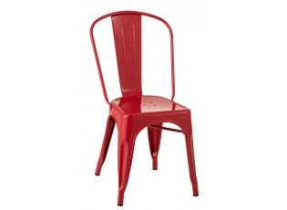 Červená kovová židle  Bistro - 51*45*85cm