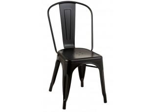 Černá kovová židle  Bistro - 51*45*85cm