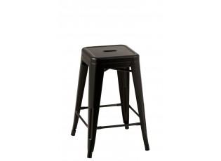 Černá kovová stolička Bistro - 41*41*61cm