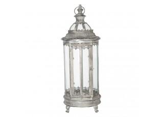 Kovová lucerna Antik silver III - Ø 23*60 cm