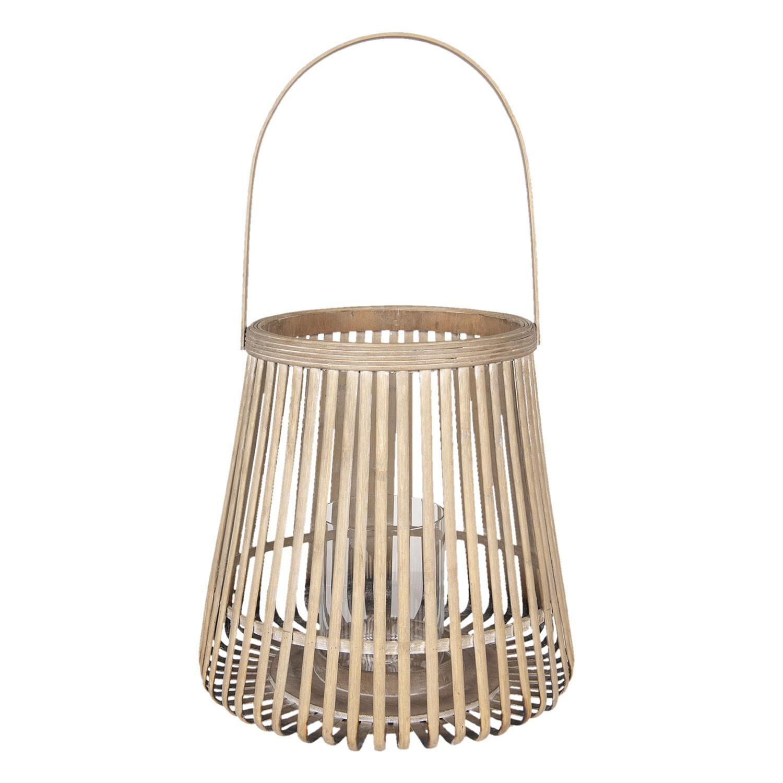 Bambusová lucerna natural Bamboo - Ø 35*60 cm