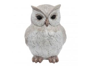 Dekorace sovička Owl - 9*11*14 cm
