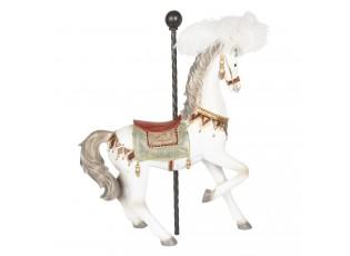 Dekorace Kůň s peříčky - 43*17*54 cm