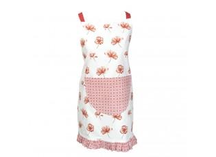Dětská bílá zástěra Poppy Flower - 48*56cm