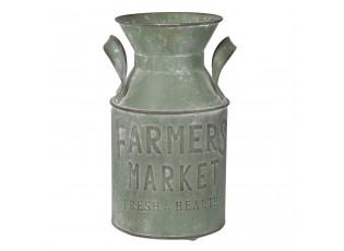 Zelená plechová konev Farmers market - Ø 14*25 cm / 2,5L