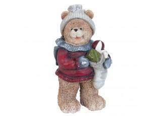 Dekorace vánoční medvídek - 8*6*15 cm