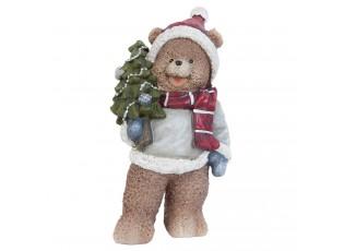 Dekorace vánoční medvídek - 10*7*20 cm