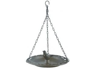 Závěsné litinové pítko pro ptáčky Bird - 23*23*8 cm