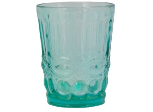 Tyrkysová sklenička Verrerie - Ø 8*10 cm
