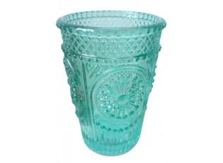 Tyrkysová sklenička Verrerie - Ø 7,5*10,5 cm