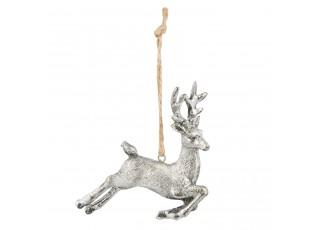 Závěsná dekorace jelen - 8*2*10 cm