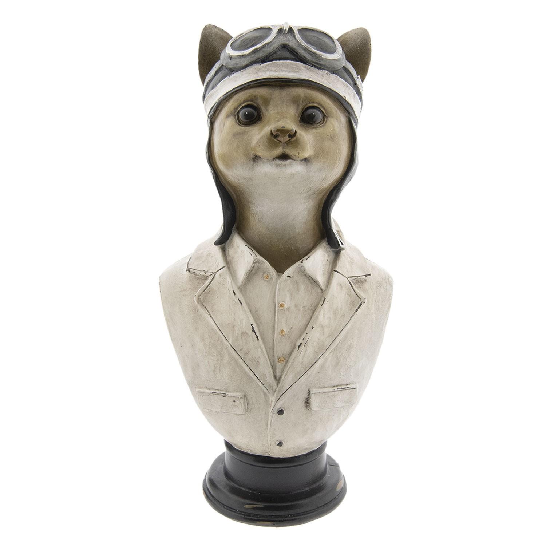 Dekorace bysta kočka - 15*11*30 cm