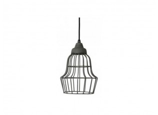 Šedé kovové stropní světlo Birk - Ø 17*27 cm