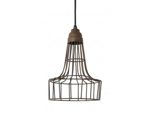Hnědé kovové stropní světlo Babette - Ø 20*30 cm
