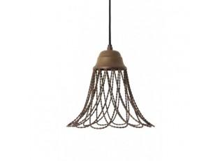 Hnědé kovové stropní světlo Beverly - Ø 25*26 cm