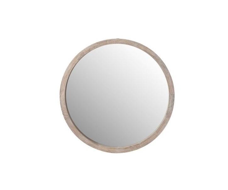 Kulaté dřevěné nástěnné zrcadlo Round L - Ø60*5cm