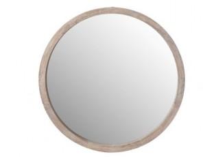 Kulaté dřevěné nástěnné zrcadlo Round S - Ø35*5cm