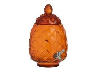 Oranžová nádoba na nápoje s kohoutkem - Ø20*33cm