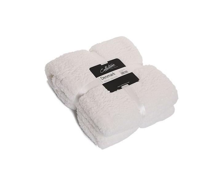 Bílý chlupatý pléd Denmark off white - 150*200 cm