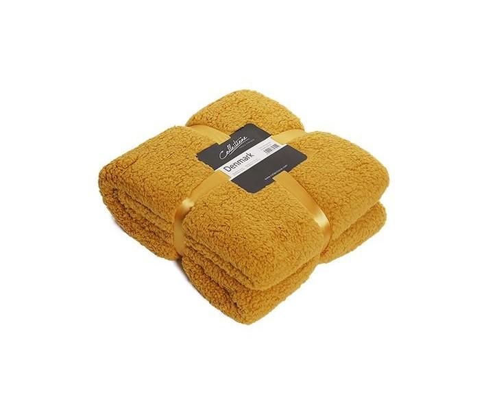 Žlutý chlupatý pléd Denmark golden - 150*200 cm