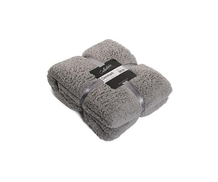 Šedý chlupatý pléd Denmark grey - 150*200 cm