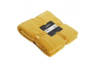 Žlutý plyšový pléd Olaf golden - 150*200 cm