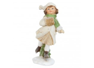Dekorace dívka na bruslích - 6*5*13 cm