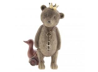 Dekorace medvídek s kačenkou - 8*7*13 cm