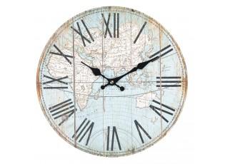 Nástěnné hodiny World  - Ø 34*4 cm / 1xAA