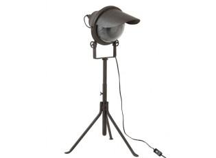 Černá kovová stolní lampa Industrial - 43*48*95cm