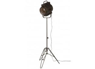 Černá kovová stojací lampa Industrial - 60*50*170cm