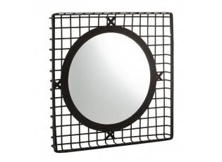 Černé nástěnné kovové zrcadlo - 95*8*95cm