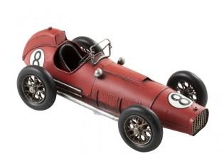Kovový červený retro model auta - 41*18*14cm