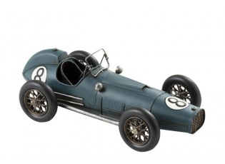 Kovový modrý retro model auta - 41*18*14cm