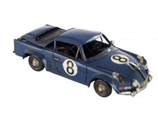Kovový modrý retro model auta - 32*14*9cm