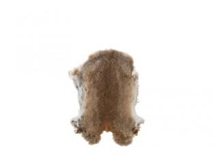 Hnědá králičí kůže -  30*40cm