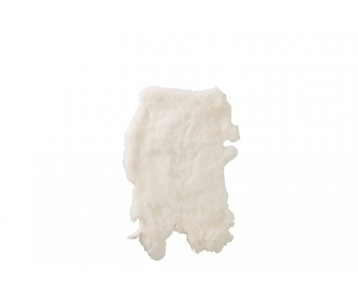 Bílá králičí kůže -  30*40cm