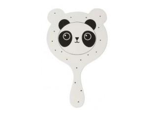 Bílé zrcátko Panda - 11*1*20cm