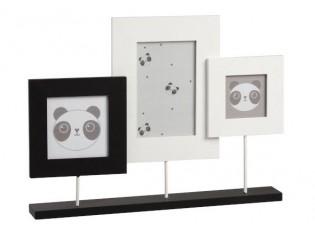 3 fotorámečky na podstavci Panda - 37*5*27cm