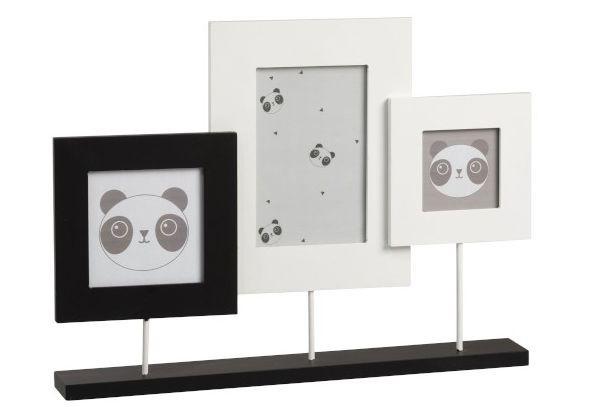 Levně 3 fotorámečky na podstavci Panda - 37*5*27cm