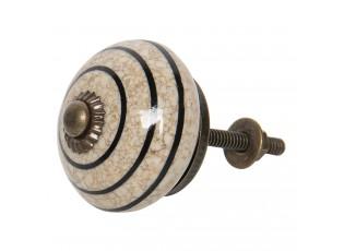 Mramorová keramická úchytka - Ø 4 cm