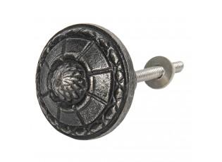 Šedo-černá kovová úchytka Divy - Ø 4 cm