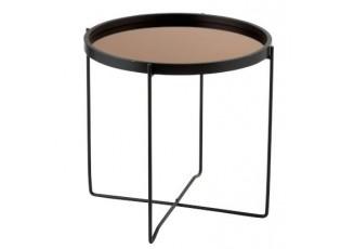 Odkládací kulatý kovový stolek Cofee - Ø50*53cm