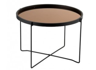 Odkládací kulatý kovový stolek Cofee - Ø59*45cm
